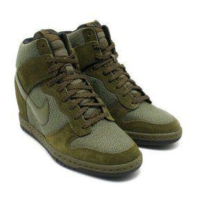 Nike Dunk Sky Hi Wedge Essential Rough Green SZ 11